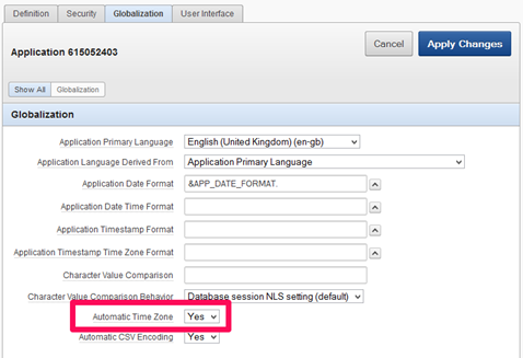 APEX Automatic Timezone Setting
