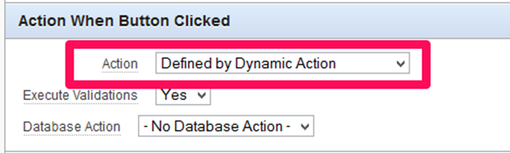 Button Action - Defined by Dynamic Action