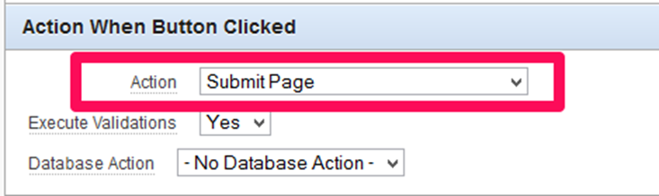 Button Action - Submit Page