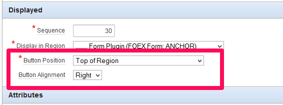 FOEX Form Button Alignment Change