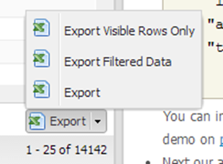 FOEX Grid - New Export Options